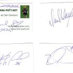 autographe Claude Raymond, Stephane Fiset, Daniel Malancon, Etienne Boulay
