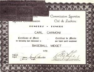carl certificat honneur 1970